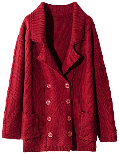 Liny Xin Women's Cashmere Winter Warm Long Sleeve Button Dow