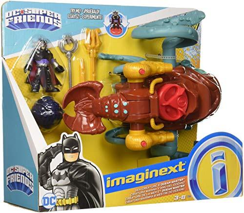 Fisher-Price Imaginext DC Super Friends Aquaman, Sea Creature & Ocean Master