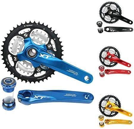 Black VSTON Bike Crankset,22//32//44T Triple MTB Bike Chainring Crankset BB Crank for Road Bike Mountain Bicycle 9-Speed M430 Crank Set