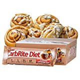 Universal Nutrition Gluten Free, Sugar Free, Doctor's CarbRite Diet Protein Bar Frosted Cinnamon Bun 2 oz bar 12 Count