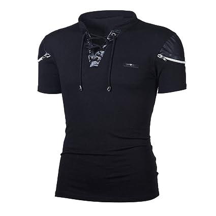 939a3746552 Amazon.com  Plus Size!Men Summer Hooded Shirt Top