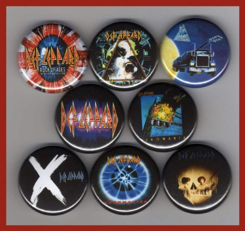 (Def Leppard Set of 8 - 1 Inch Magnets)