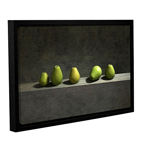 ArtWall 0dec012a1218f Cynthia Decker's Five Pears, Gallery-Wrapped Floater-Framed Canvas, 12-Inch x 18-Inch