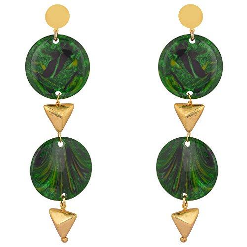 Shaze Gold Colored Bohemian Charm Earrings for Women by shaze