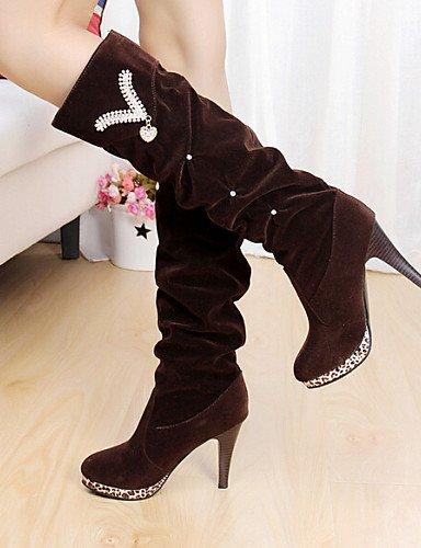 Vestido Uk6 De Stiletto Comfort Mujer Marrón Cn39 Zapatos Casual Semicuero Eu39 Black us8 Negro Tacón us8 Xzz Brown Botas Z4q0wSxn