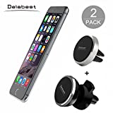 Delabest Air Vent Magnetic Universal Car Mount Holder with Fast Swift-Snap Technology for Smartphones and Mini Tablets (2-Pack)
