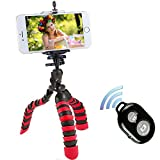 Phone Tripod,PEYOU [3 in 1] Octopus Style Portable Tripod Stand+Phone Mount Holder+Bluetooth Wireless Remote Shutter Compatible iPhone X/8/8 Plus/7/7Plus/6s,Samsung Galaxy Note 8/S9/S8/S8 Plus/S7