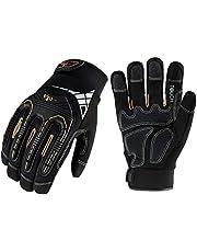 Vgo Heavy Duty Mechanic Gloves, Work Gloves, Impact Reducing, Touchscreen (Black, SL8849)