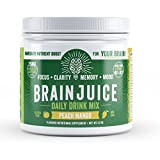 BrainJuice Brain Booster, Memory Focus Drink- Green Tea Extract, Alpha GPC Brain Support Supplement for Energy, Focus, Clarity, Memory & Mood (Peach Mango, 30 Servings) Review