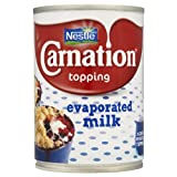 Nestle Carnation Topping Evaporated Milk 12 x 410gm