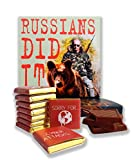 "DA CHOCOLATE Candy Souvenir Funny Food Gift ☭ ""RUSSIANS DID IT"" ☭ A Nice Joke Chocolate Set 5x5in 1 box (Prime)"