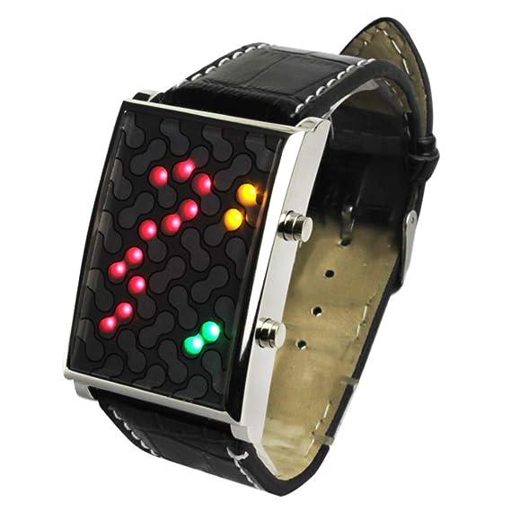 Reloj Digital LED para Hombre con Pulsera de Cuero para Hombres y niños Militar Digital Deportivo Reloj de Pulsera LED Ideas de Regalo: Amazon.es: Relojes