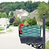 Mailbox Cover, Wavy Pattern Handdrawn Abstract