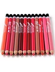 YeeSure 12 pc Matte Lip Liner Pencils Set for 12 Colors...