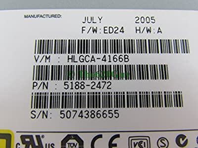 HP DVD740 5188-2472 DVD±R Dual Layer LightScribe IDE Optical Drive H-L GCA-4166B