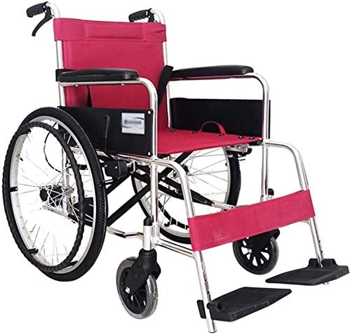 WPOSD Faltbarer Rollstuhl Mit rutschfest Armlehnen,fußpedal Höhenverstellbar,13kg Leichter Stahl,transportrollstuhl...