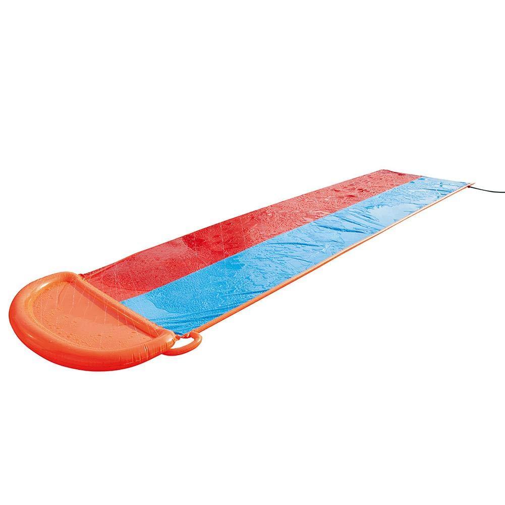 Zihui 5,5 M Wasserrutsche Mit Doppelschieber Aufblasbare Wasserrutsche Mit Dicker Rutsche Und Rutsche Sommerwasserrutschen F/ür Den Garten Spritzer-Sprint-Wasserrutsche