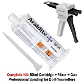 Huntsman Araldite 2014 High-Temp Chemical-Proof Epoxy Gel (50ml/1.7oz + Mixing Gun)