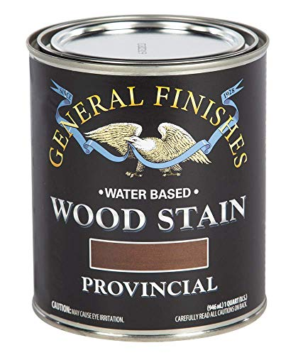 General Finishes WVQT Water Based Wood Stain, 1 Quart, Provincial