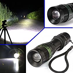 Flashlights Ultrafire Cree Xm-l T6 Tactical Zoomable 5000 Lumen Led Flashlight Torch Lamp