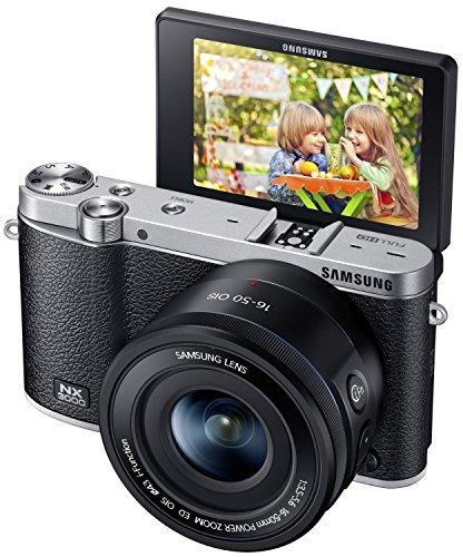 SAMSUNG サムスン NX3000 スマート Wi-Fi 搭載 20.3MP デジタルカメラ OIS Power Zoomレンズ 16-50mm レンズキット (Black ブラック 黒)