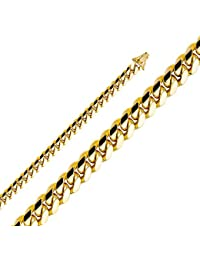 14k Yellow Gold 8mm Miami Cuban Curb Chain Necklace