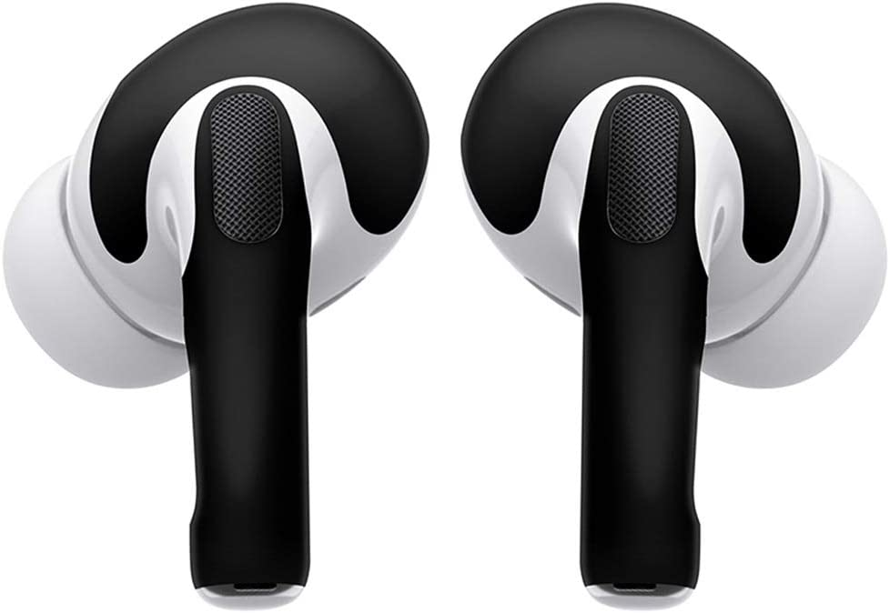 ReplaceMyParts Vinyl Skins for AirPods Pro Protective Wraps Stickers to Cover Air Pods Compatible Sticker Wrap Decal with Apple Air Pod Pro Accessories (2 Pack), Matte Black