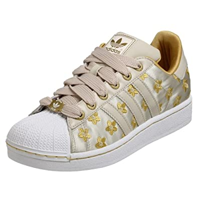 adidas Originals Women's Superstar 2 D Shoe,Vapour/White/Gold,10.5 M