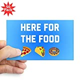 CafePress - Here For The Food - Sticker (Rectangle 50 pk)