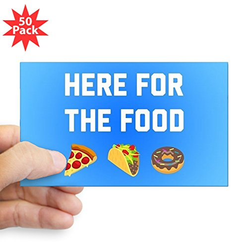 CafePress - Here For The Food - Sticker (Rectangle 50 pk) by CafePress
