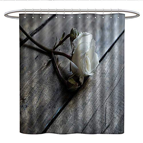 Contemporary Home Interior Nature Decor CollectionUnique Shower curtainPictures Paintings Abstract Flowers Floral Artwork Grey Black and White Rose Cute Shower Curtain