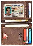 Best Front Pocket Wallets - Slim Wallet Front Pocket Minimalist Genuine Leather RFID Review