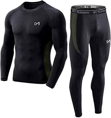 Men Long Sleeve Under Layer Tops Skin Compression Gym Fitness Sport Tights Shirt