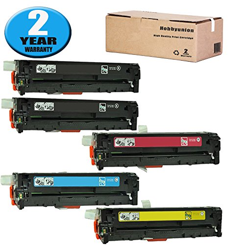 131A CF210A CF211A CF212A CF213A Toner Cartridge Compatible for LaserJet Pro 200 Color M251NW M251; MFP M276NW M276N by Hobbyunion (5 Pack, 2Black, Cyan, Yellow, Magenta) ()