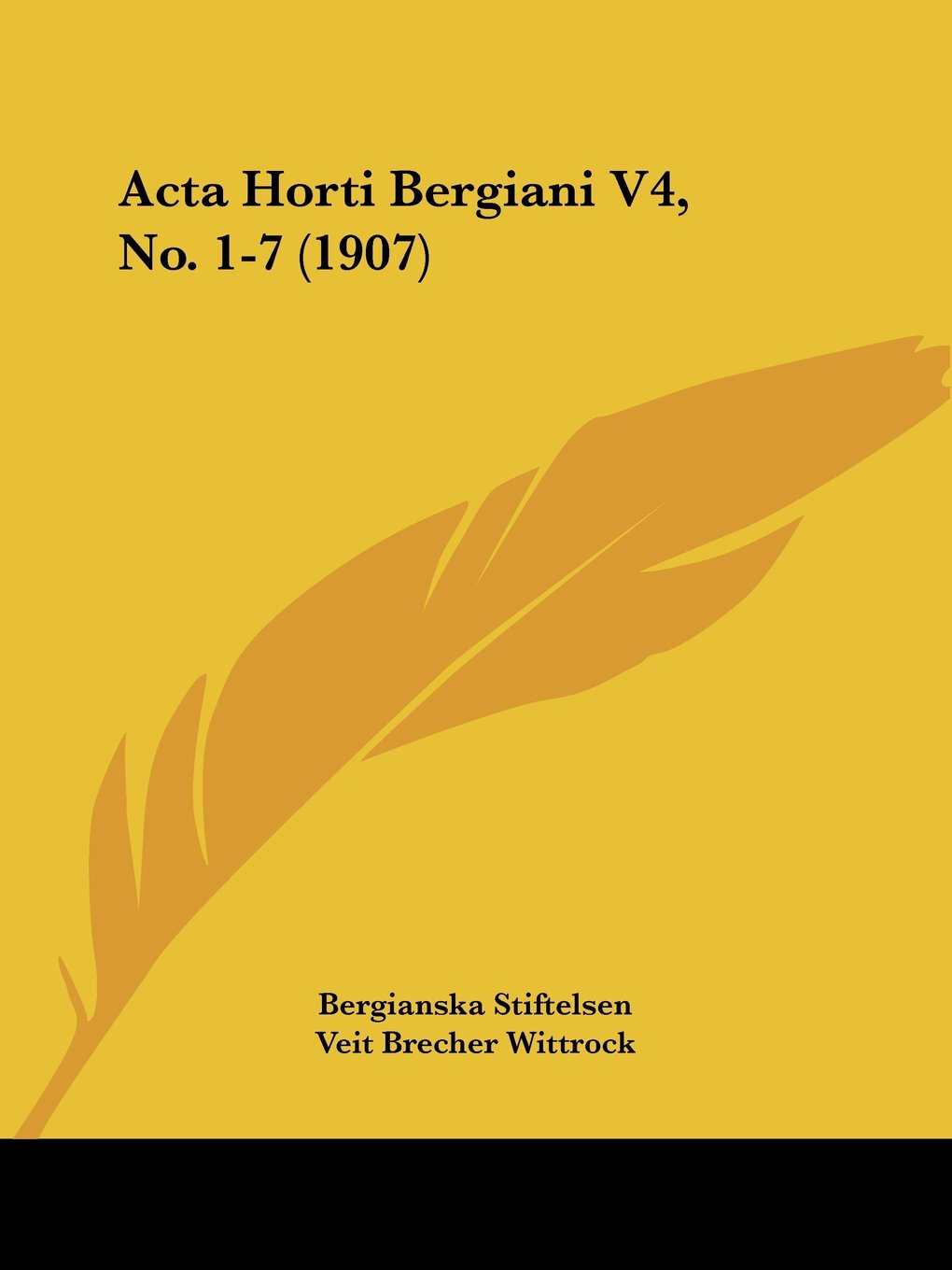 Acta Horti Bergiani V4, No. 1-7 (1907) (Latin Edition) ebook