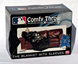 "MLB Milwaukee Brewers Comfy Throw, Officially MLB Licensed Blanket with Sleeves ""Smoke"" Design"