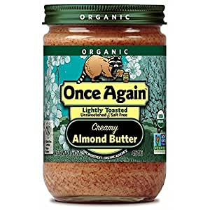 Organic Lightly Toasted Creamy Almond Butter, 16 oz