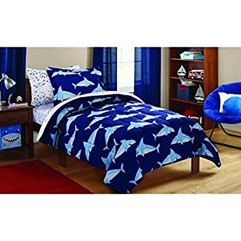 Amazon Com Fancy Collection Kids Shark Full Size Bed In