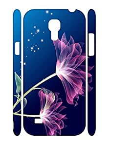 Cute Flower Print Custom Durable Plastic Phone Skin Case for Samsung Galaxy S4 Mini I9195