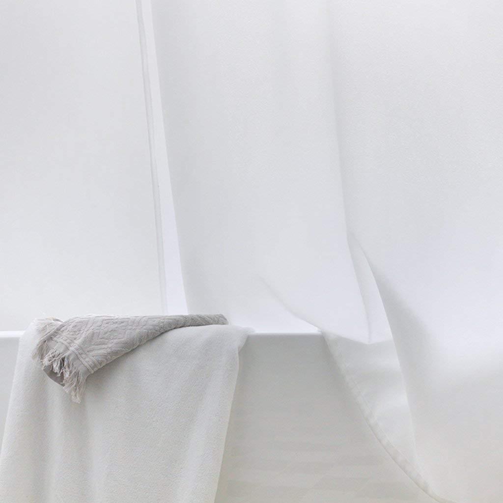 Taille: 120 * 200cm XHCP Rideau de séparation Anti moisissure de Salle de Bains Haut de Gamme Blanche de Rideau de Douche d hôtel imperméable à l Eau