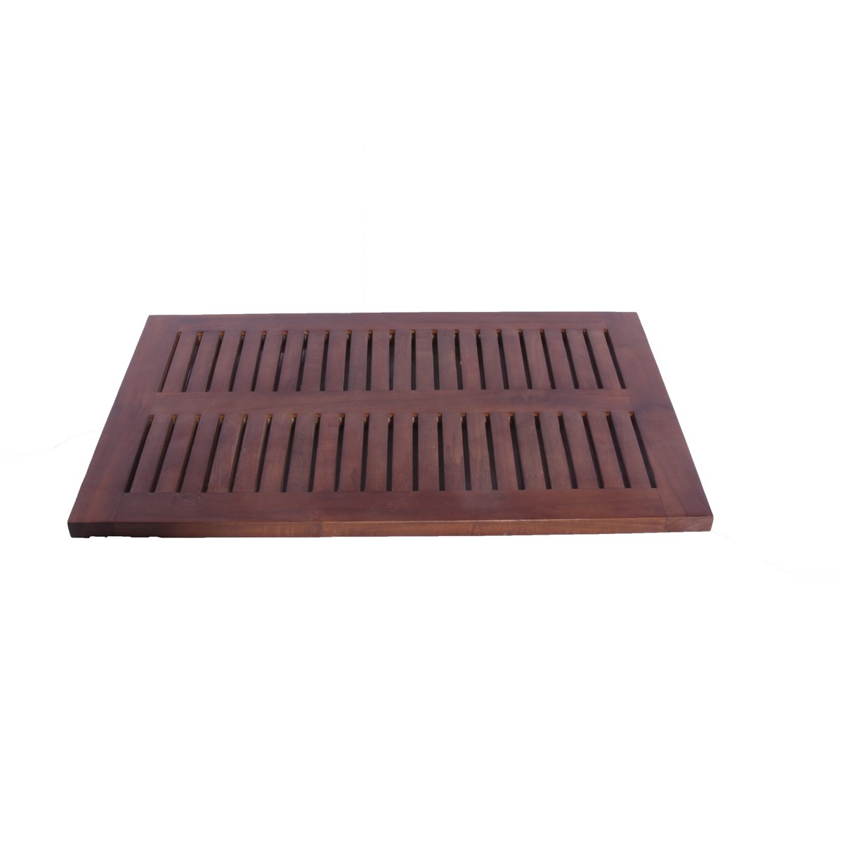 Decoteak Floor Bath Mat, 23'' x 15'' x 1 inch, Brown