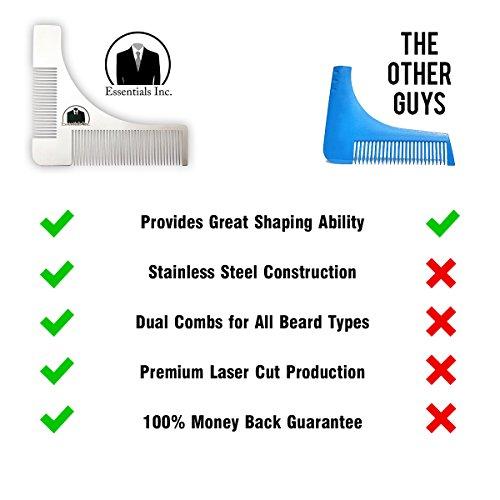 essentials beard shaping symmetric tool comb for shaving. Black Bedroom Furniture Sets. Home Design Ideas