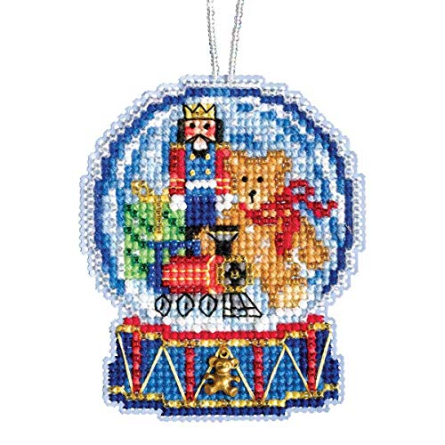 Toy Shop Snow Globe Beaded Counted Cross Stitch Charmed Ornament Kit Mill Hill 2019 Snow Globes MH161934