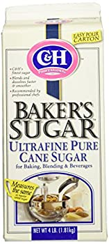 C&H Professional BAKER'S SUGAR Ultrafine 4lb (5 Pack)