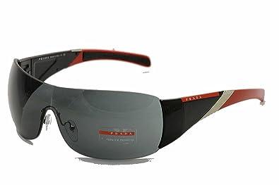 6293504507fb Amazon.com  Prada Linea Rossa (Sport) 07h Black   Red Tip Frame Grey ...