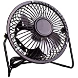 IOQSOF 4 Inch Desktop, USB Powered Table Personal Cooling, Small Desk Fan, Quiet Operation, Enhanced Airflow, Black