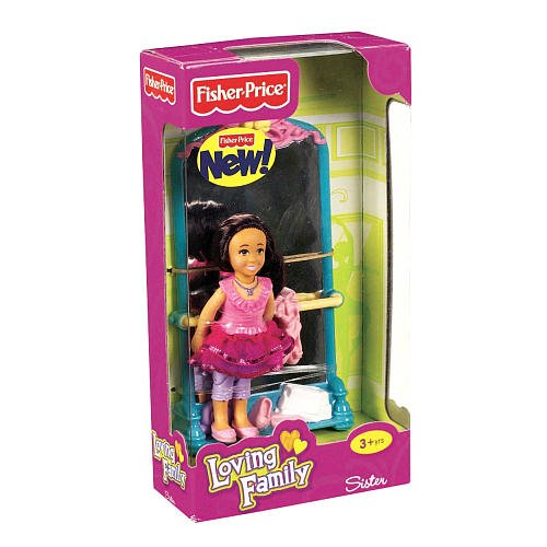 Fisher-price Loving Family Sister Doll Plus Ballet Stand with Mirror - Hispanic