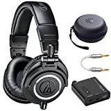Audio-Technica ATH-M50X Dark Grey Professional Headphones - LIMITED SPECIAL EDITION Ultimate Bundle