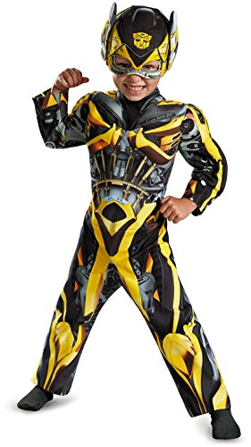 Bumblebee Costume Baby (Disguise Hasbro Transformers Age of Extinction Movie Bumblebee Toddler Muscle Costume, Small/2T)