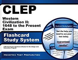 Amazon clep western civilization ii 1648 to the present exam clep western civilization ii 1648 to the present exam flashcard study system clep test fandeluxe Choice Image